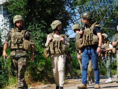 Французька делегація з робочим візитом відвідала район проведення операції Об'єднаних сил