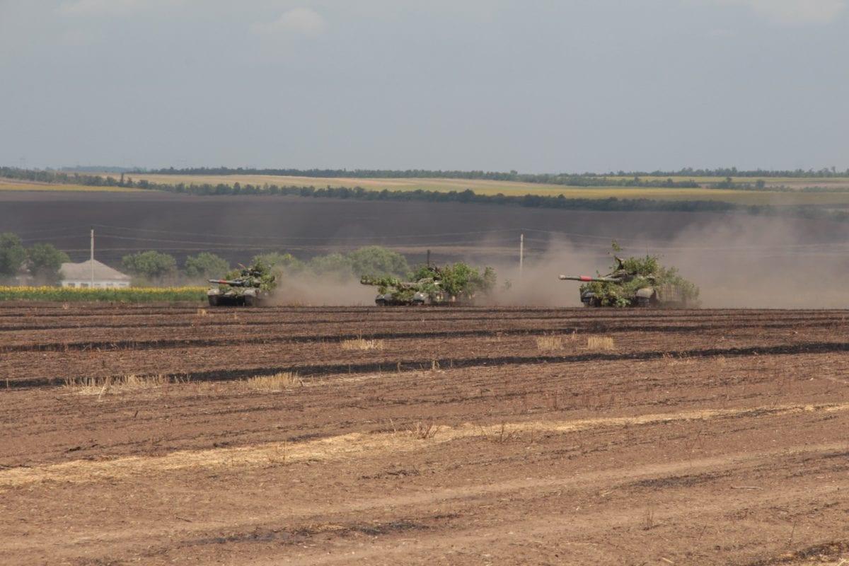 На фото: Атака танкового підрозділу