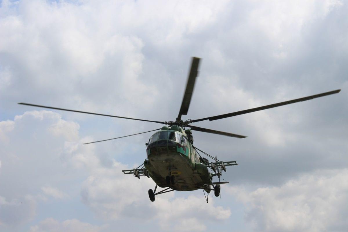 На фото: гелікоптер