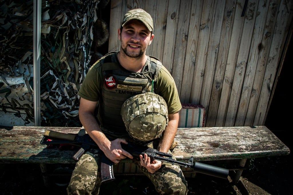 На фото: Військовослужбовець з позивним «Каспер»