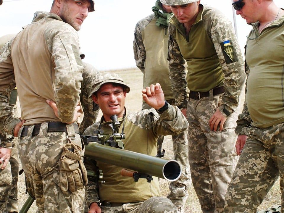 У Грузії українські морські піхотинці опановують зброю НАТО