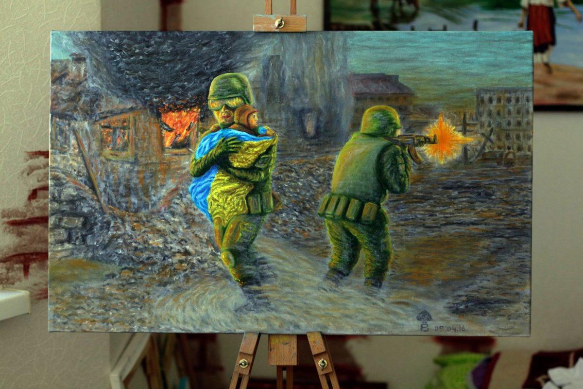 Малювник Роман Піддубний – піхотинець з любов'ю до літаків