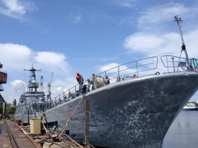 Найбільший десантний корабель Військово-морських сил став на ремонт