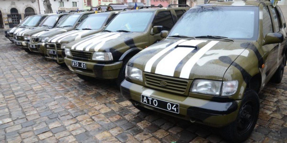 Тисячу волонтерських автомобілів уже введено до штату військових частин