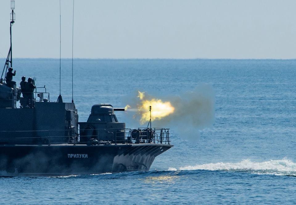 Корабельно-катерна тактична група ВМС України знищила берегові цілі противника