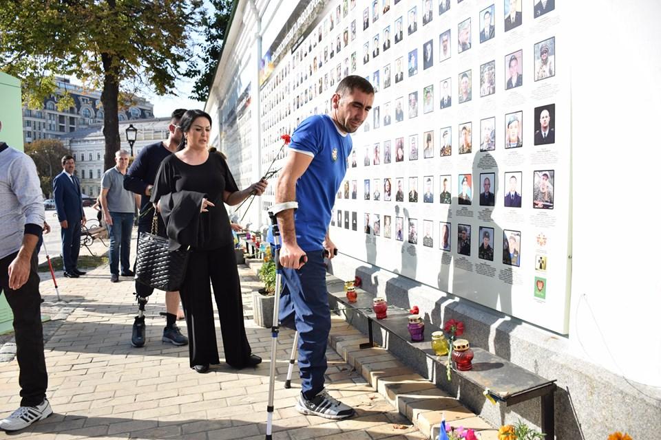 Азербайджанські ветерани поклали квіти до Стіни пам'яті та запросили ветеранів АТО до участі у Чемпіонаті Європи-2020