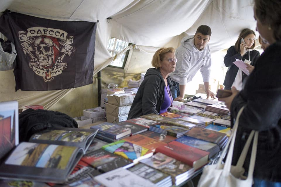Книжки «Ветеранського намету» на Львівському форумі видавців викликали чималий інтерес