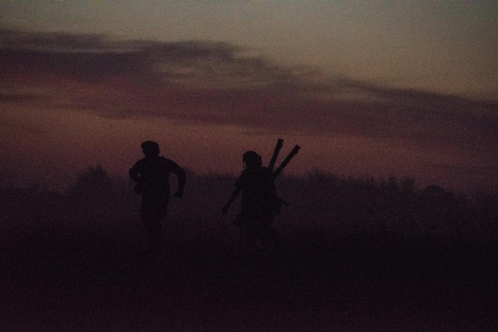 Як морпіхи били противника на Азові…