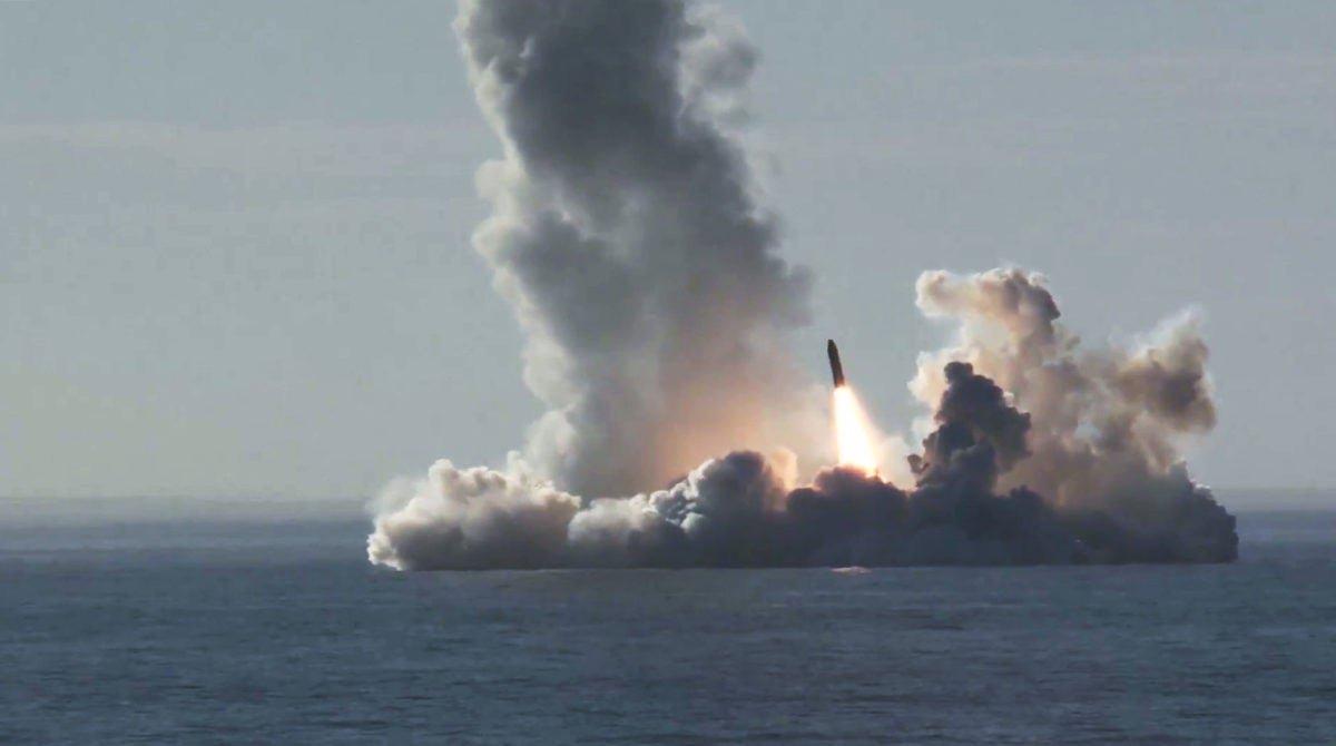 Росія запустила балістичну ракету в акваторії Білого моря
