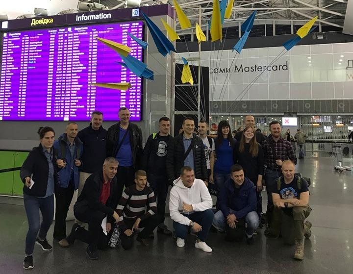 Команда українських ветеранів АТО вирушила на марафон морської піхоти до США