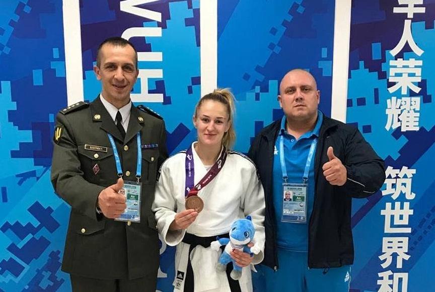 Марія Скора: «Гордість переповнює за нашу країну, адже я здобула першу медаль 7-х Всесвітніх Ігор серед військовослужбовців»