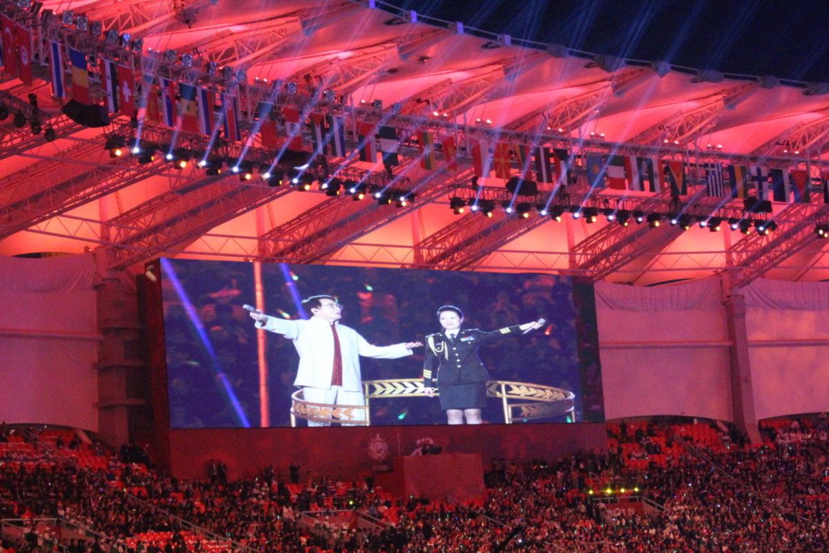 Джекі Чан привітав всіх армійців з відкриттям 7 Всесвітніх Ігор