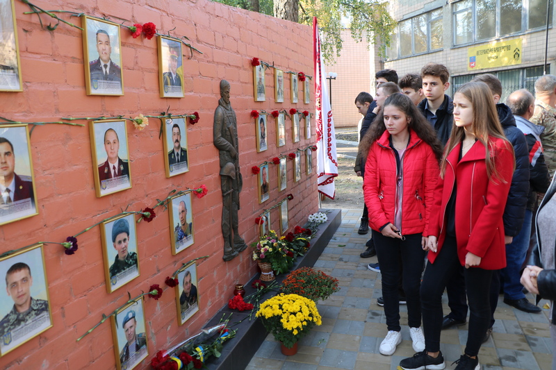 Ветеранська спільнота в Черкасах відкрила Стіну пам'яті загиблим українським воїнам