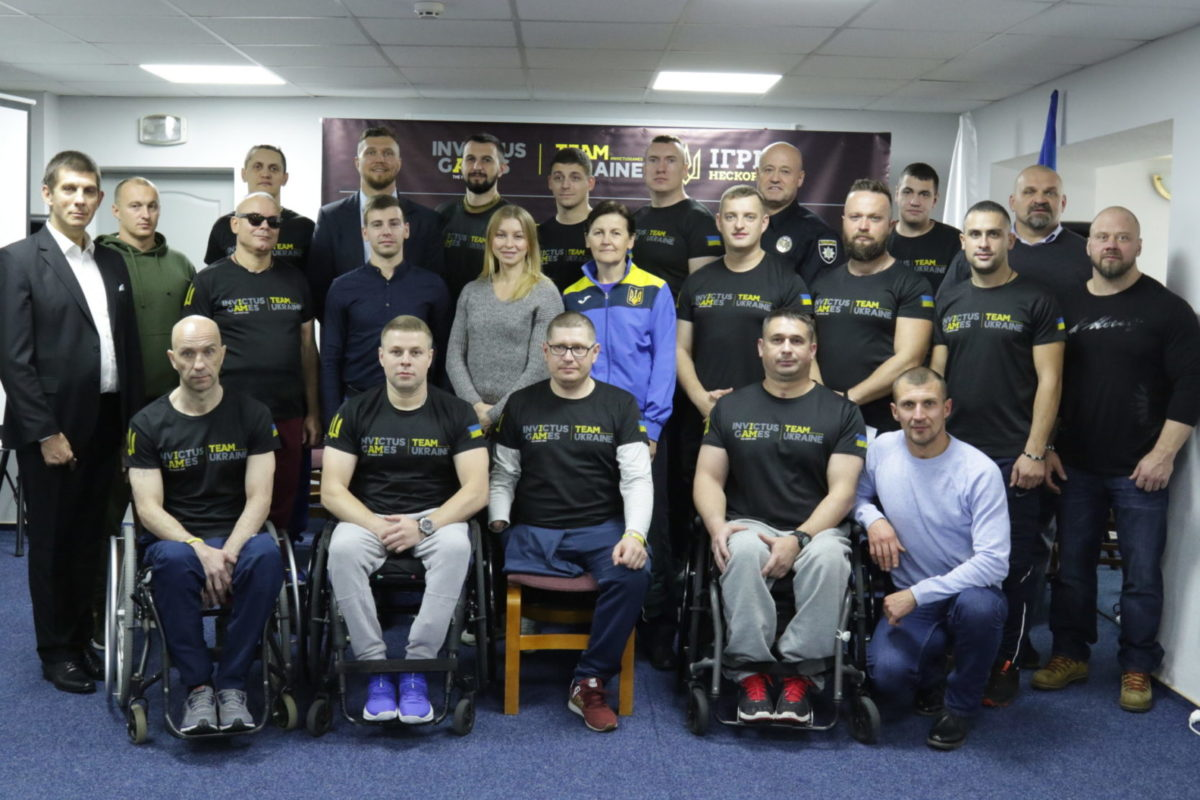 На Олімпійській тренувальній базі в Конча-Заспі вперше офіційно представили українську команду «Інвіктус»