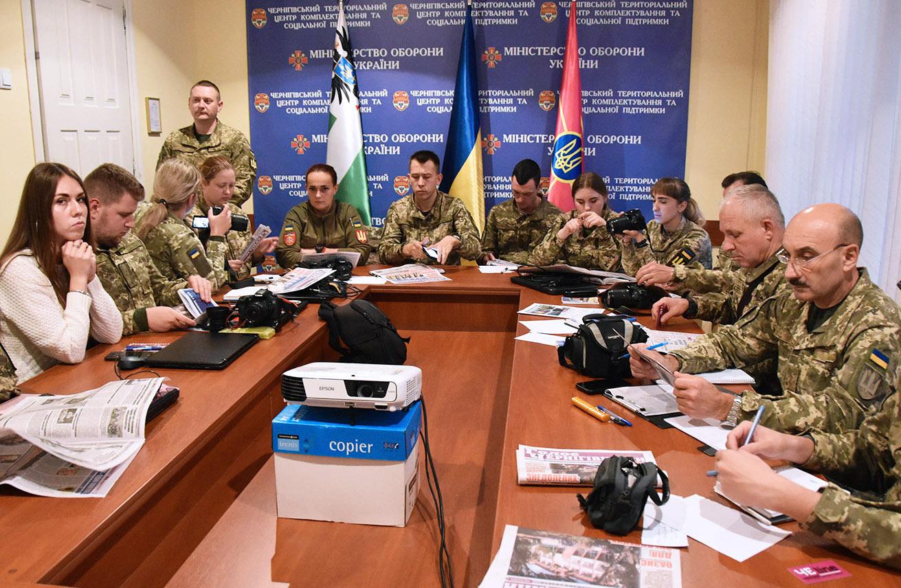 Майстер-класи для пресофіцерів бойових частин улаштували в Чернігові