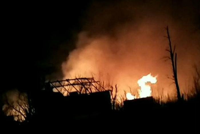 Російські окупанти помилково знищили власний склад із боєприпасами і «зачепили своїх»