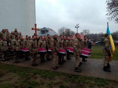 Військовослужбовці ЗСУ взяли участь у перепохованні воїнів УПА