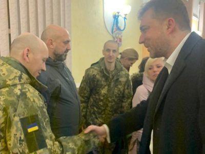 Андрій Загороднюк зустрівся зі звільненими з полону військовими