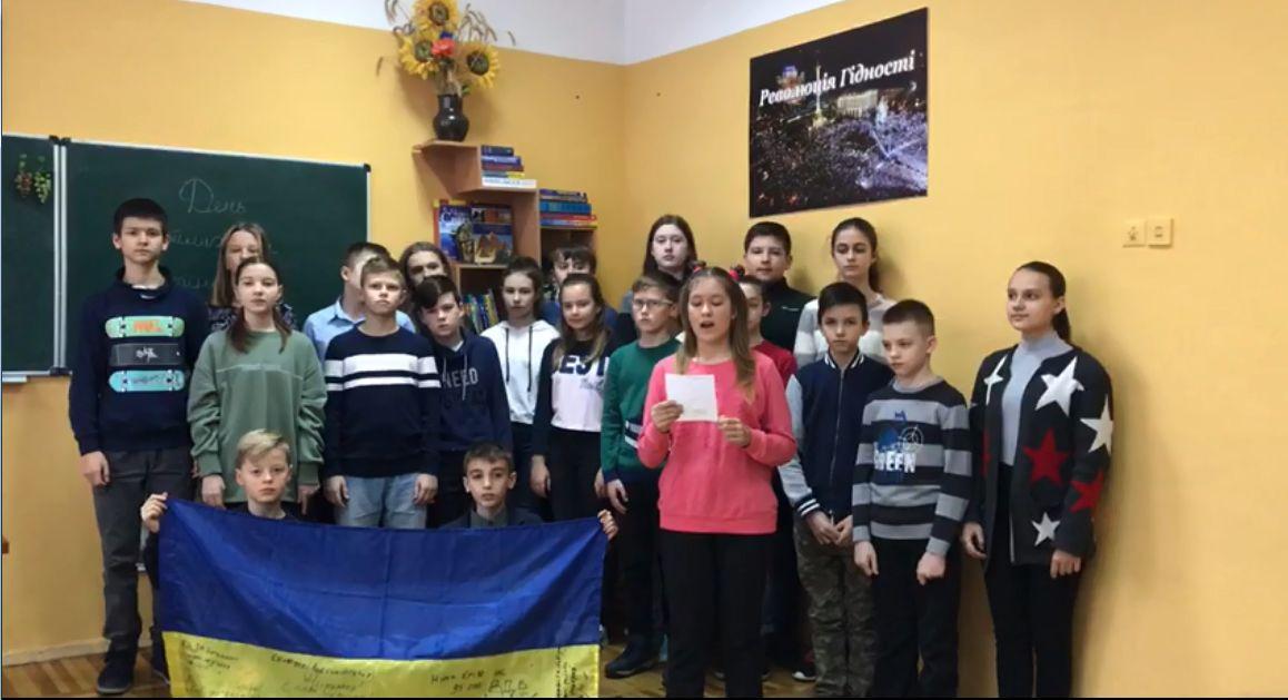 Привітання до Дня Збройних Сил України учнів 71 спеціалізованої школи міста Києва