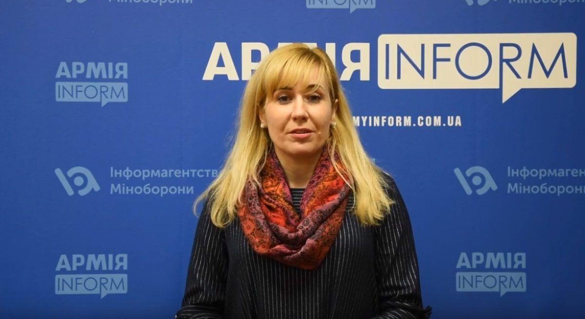 Голова ГО «Волонтерська сотня Доброволя» Наталя Воронкова вітає наших бійців зі святом