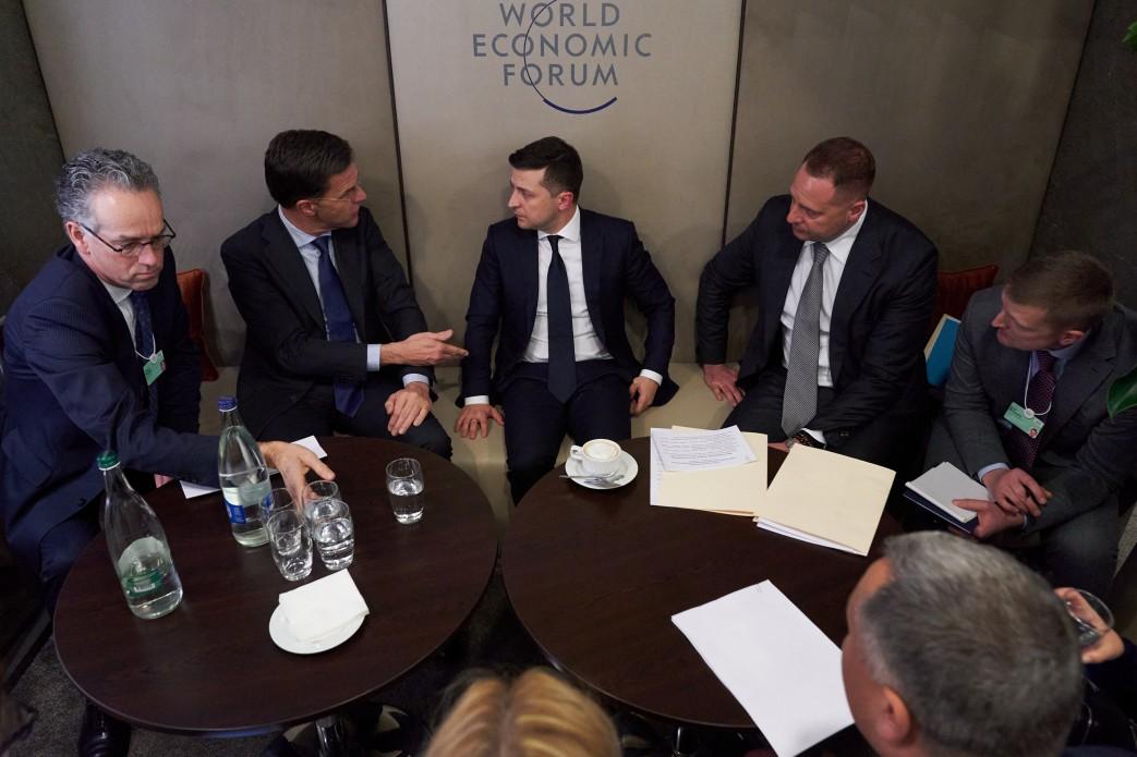 Президент України провів зустріч з Прем'єр-міністром Королівства Нідерланди