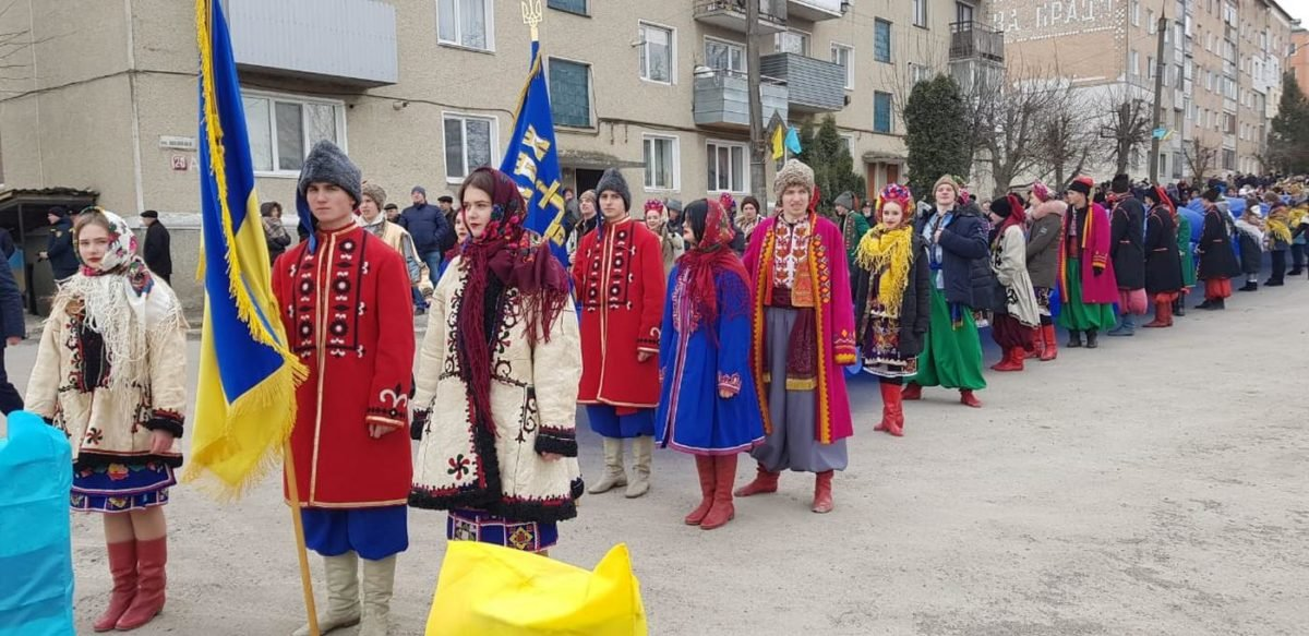 «Збруч — ріка єднання»: хмельничани та тернополяни День Соборності України відзначили разом