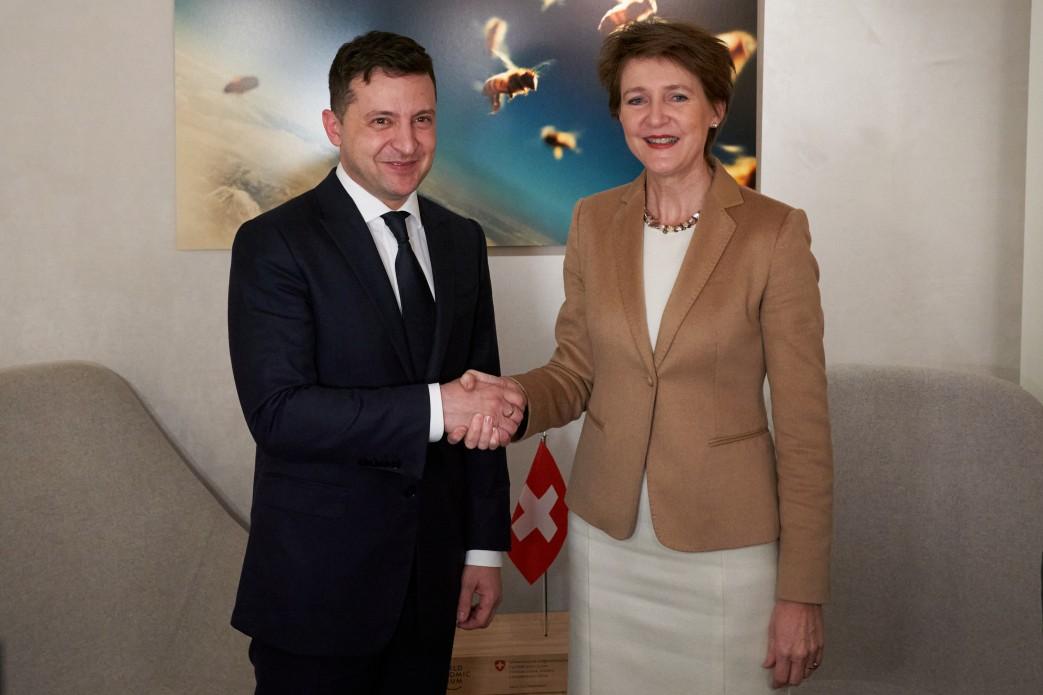Володимир Зеленський зустрівся з Федеральним президентом Швейцарії