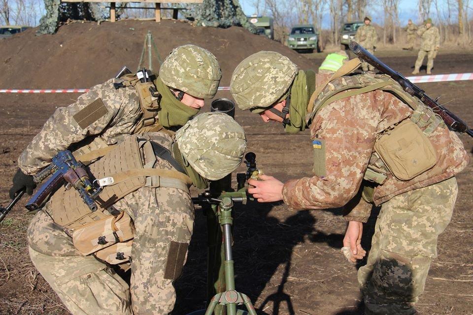 Найкращий мінометний розрахунок Об'єднаних сил: фото та відео зі змагань