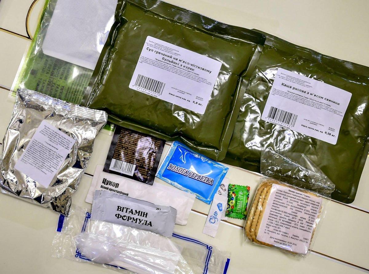 Торік у підрозділах ООС забракували близько 200 тонн неякісних продуктів та 160 тисяч сухпайків
