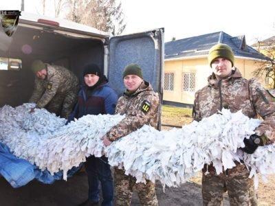 Ліцеїсти сплели велетенську маскувальну сітку для бригади князя Романа Великого