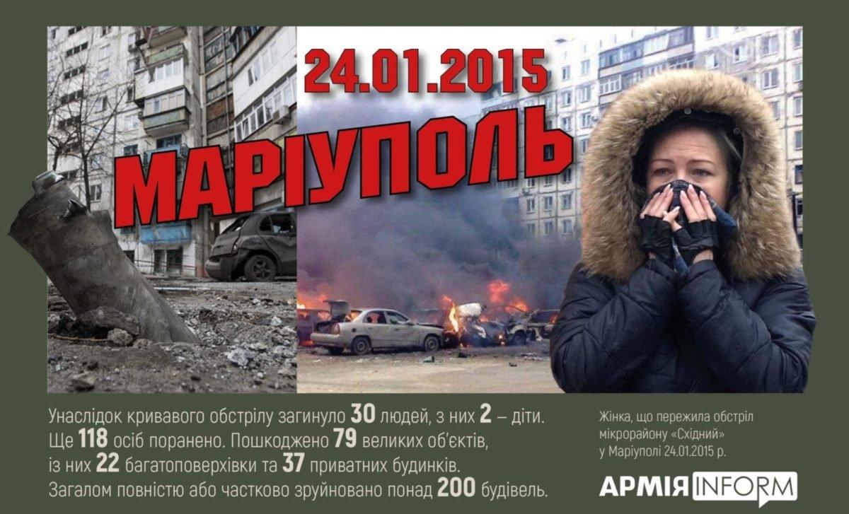 Сьогодні українці згадують загиблих під час жахливого обстрілу бойовиками мікрорайону «Східний» у Маріуполі