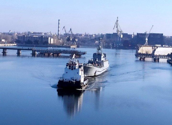 До місця постійного базування повертається середній десантний корабель ВМС ЗС України «Юрій Олефіренко»