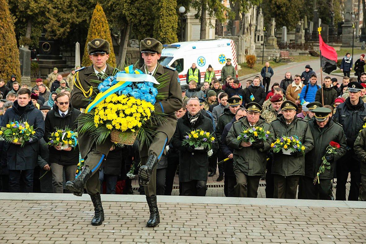 Військовослужбовці Львівського гарнізону взяли участь у церемонії з нагоди Дня Соборності України