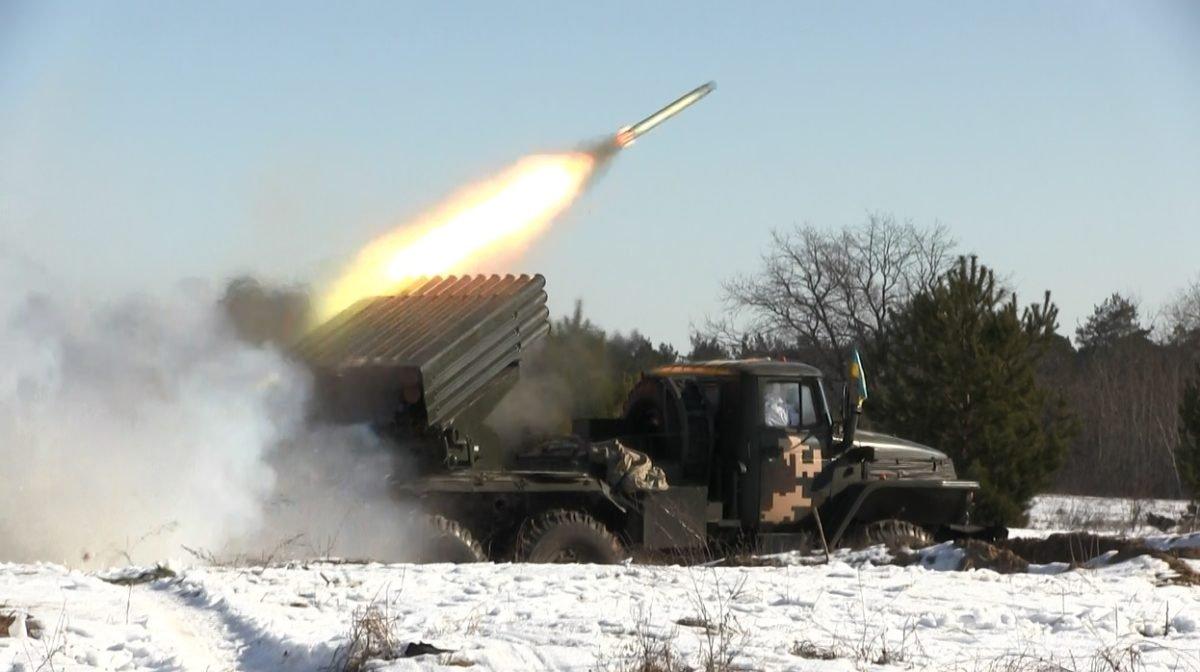 «Гради» підтримали вогнем танкову бригаду під час умовного наступу