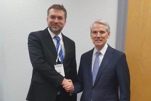 В Мюнхені Андрій Загороднюк провів зустріч з Сенатором Робом Портманом