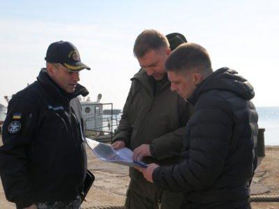 Міністр оборони відвідав Військово-морську базу в Очакові