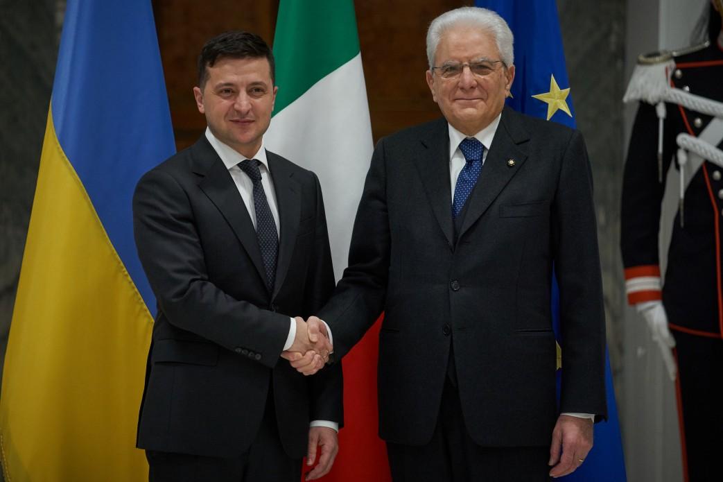 Для України важлива розбудова відносин з Італією як впливовим членом ЄС і НАТО – Володимир Зеленський