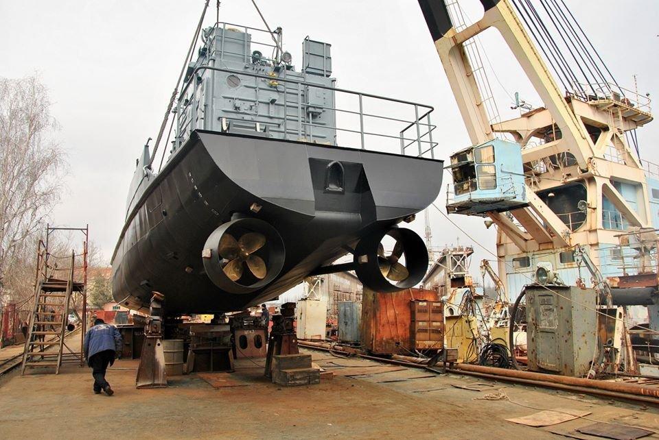 У Миколаєві після докового ремонту спустили на воду десантний корабель «Сватове»