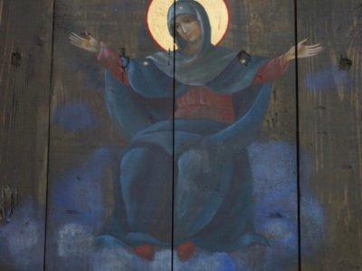 Папі Римському подарували ікону, написану на дошці з-під набоїв