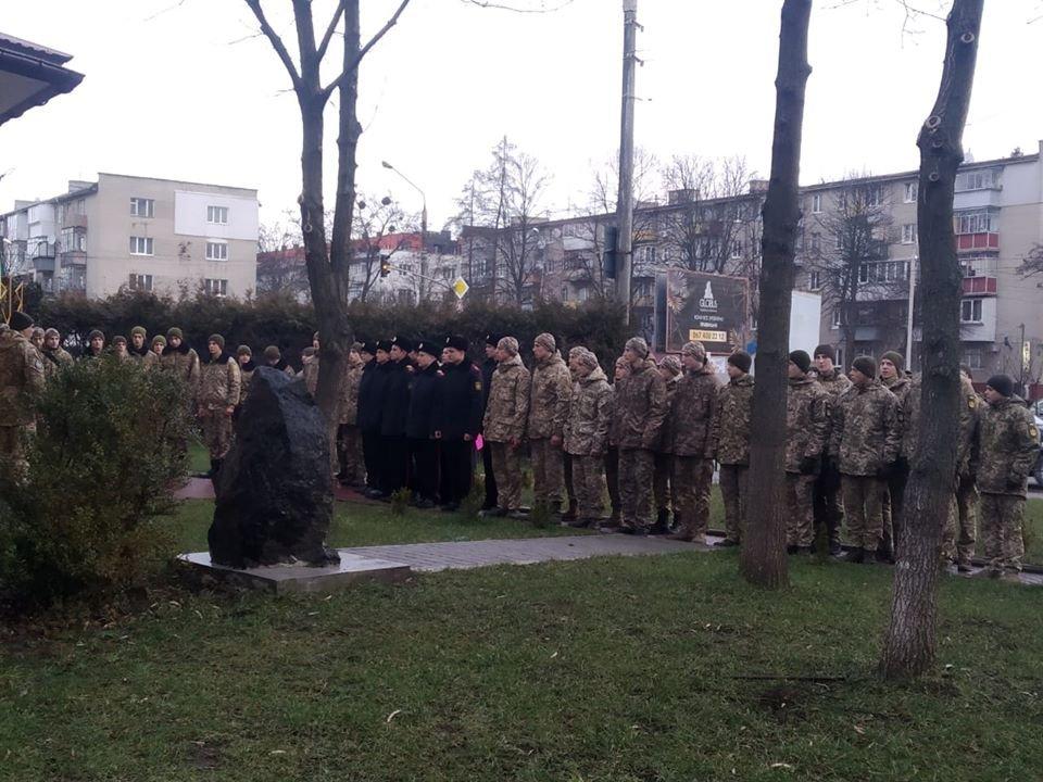 Військові ліцеїсти Львова та Луганська вшанували побратима — Героя Небесної Сотні