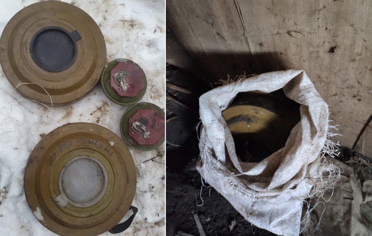 На Луганщині виявлено схрон з бойовими протитанковими мінами