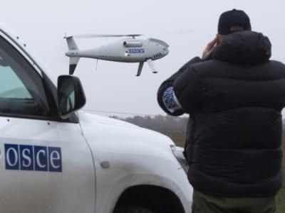 Дрон ОБСЄ зафіксував 300 мін, які встановили окупанти біля Верхньошироківського