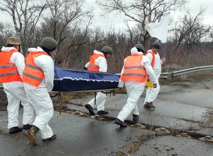 Українська сторона повернула тіло загиблого російського диверсанта