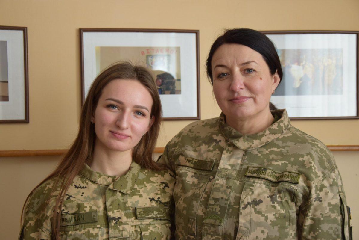 Нова жіноча династія у війську — мати й донька Трембач