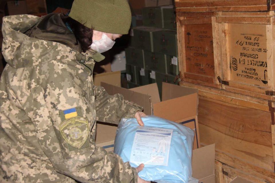 В ООС надійшла чергова партія медзасобів від Командування медичних сил ЗС України