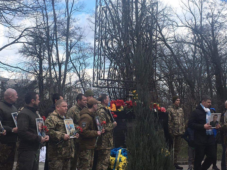 У Києві відкрили пам'ятний знак загиблим воїнам АТО