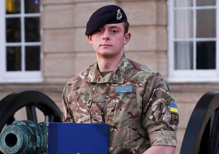 Український курсант – кращий іноземний випускник Королівської академії сухопутних військ у Британії
