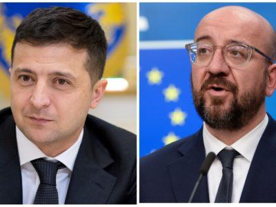 Президент і глава Євроради обговорили санкції проти РФ та ситуацію на Донбасі