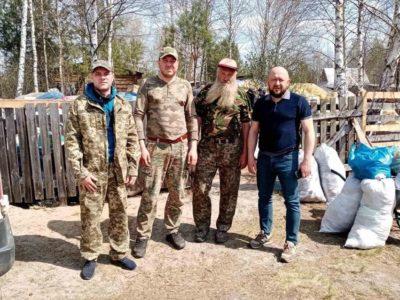Волонтери «Бучанської варти» вже втретє надали допомогу для постраждалих від пожеж на Житомирщині