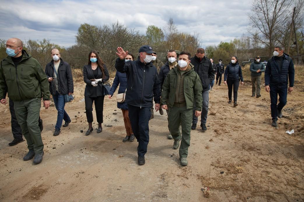 Президенту представили план протипожежної безпеки в Чорнобильській зоні